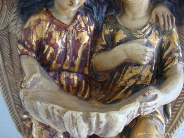 Antigüedades: Antigua Benditera policromada - Foto 3 - 60145415
