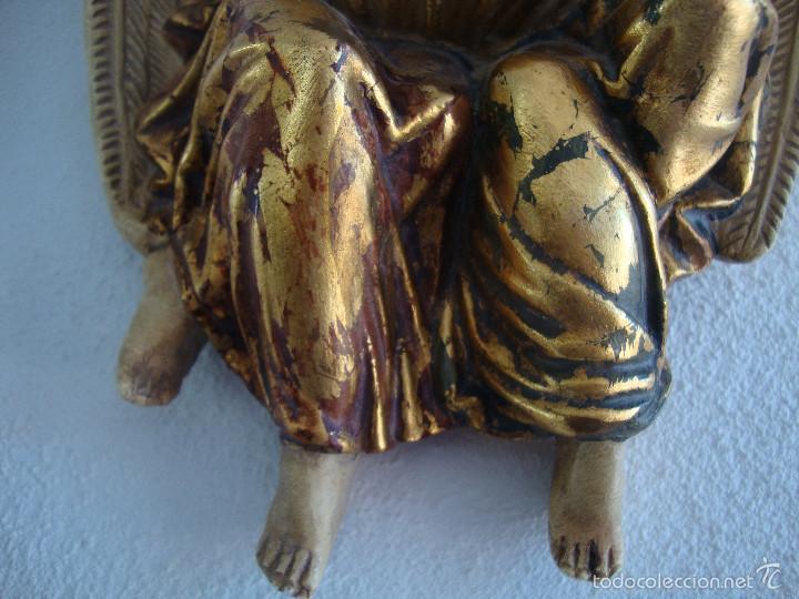 Antigüedades: Antigua Benditera policromada - Foto 4 - 60145415