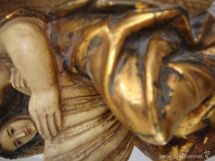 Antigüedades: Antigua Benditera policromada - Foto 5 - 60145415