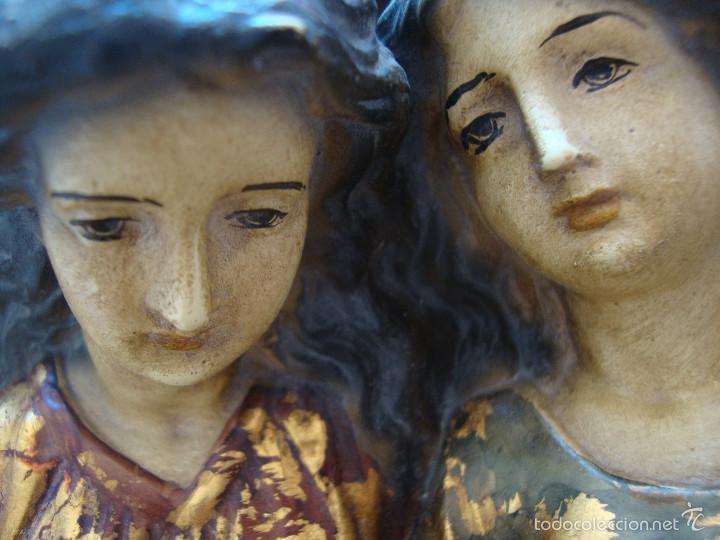 Antigüedades: Antigua Benditera policromada - Foto 8 - 60145415