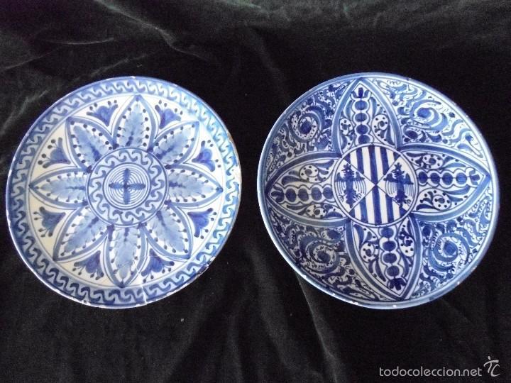 Pareja antiguos platos de ceramica comprar platos - Platos de ceramica ...