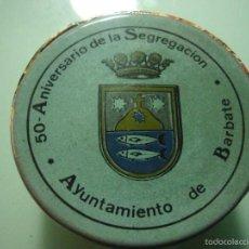 Antigüedades: 1988 50 AÑOS SEGREGACION DE BARBATE. CADIZ. CERAMICA CONMEMORATIVA. Lote 60172979