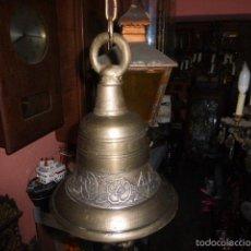 Antigüedades: CAMPANA DE COLGAR CON DIFERENTES GRABADOS. . Lote 76979150