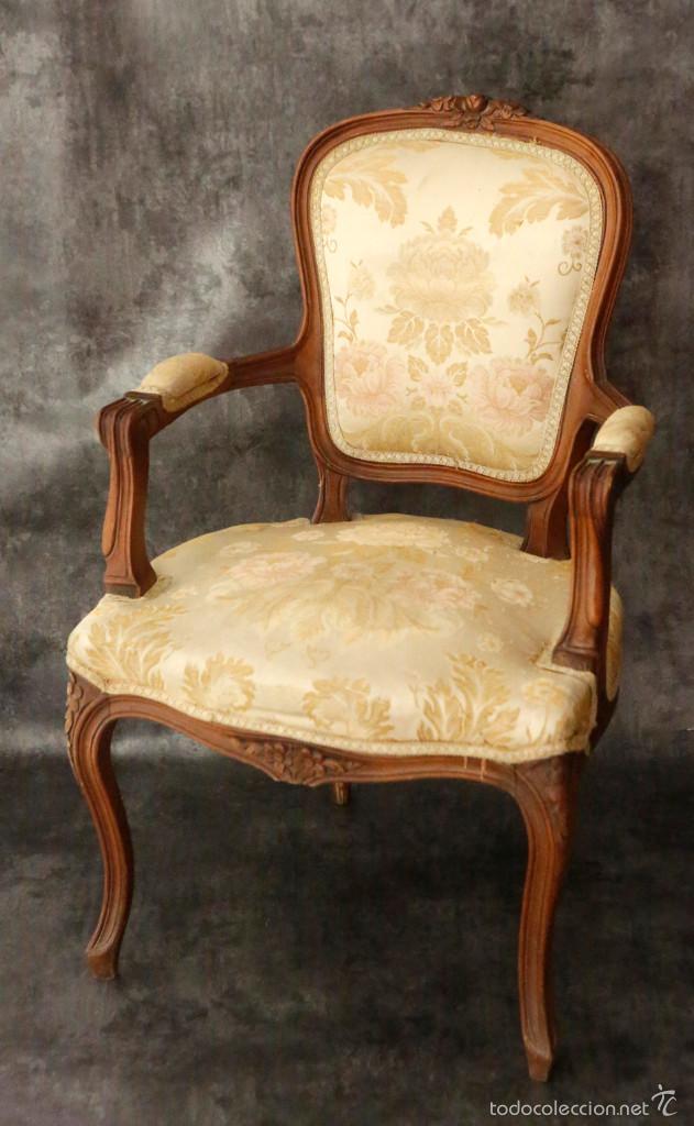 Silla antigua tapizada formas redondeadas det comprar sillas antiguas en todocoleccion - Sillas de madera antiguas ...