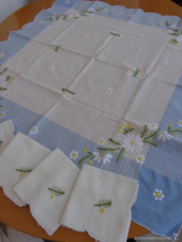 Juego de mantel y 4 servilletas tela de lino comprar for Telas para manteles precios