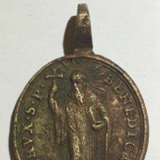 Antigüedades: MEDALLA ANTIGUA - CRUZ DEL PADRE SAN BENEDICTO - BENEDICTI - SIGLO XVII - XVIII. Lote 60283775