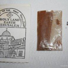Antigüedades: LOTE DE ARTICULOS PROCEDENTE DE TIERRA SANTA, CRUZ, TIERRA DE JERUSALEN, FLORES DE BELEN. Lote 60297703