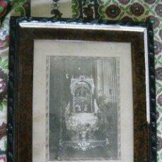 Antigüedades: CURIOSO Y MUY RARO CUADRO RELIGIOSO MUY ANTIGUO ¿CORPUS?. VER FOTOS Y LEER. Lote 194494547