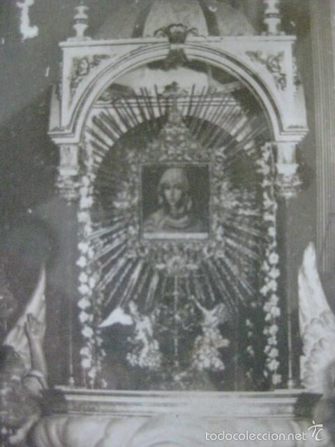 Antigüedades: CURIOSO Y MUY RARO CUADRO RELIGIOSO MUY ANTIGUO ¿CORPUS?. VER FOTOS Y LEER - Foto 3 - 194494547