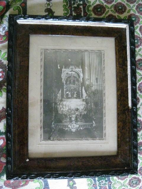 Antigüedades: CURIOSO Y MUY RARO CUADRO RELIGIOSO MUY ANTIGUO ¿CORPUS?. VER FOTOS Y LEER - Foto 5 - 194494547