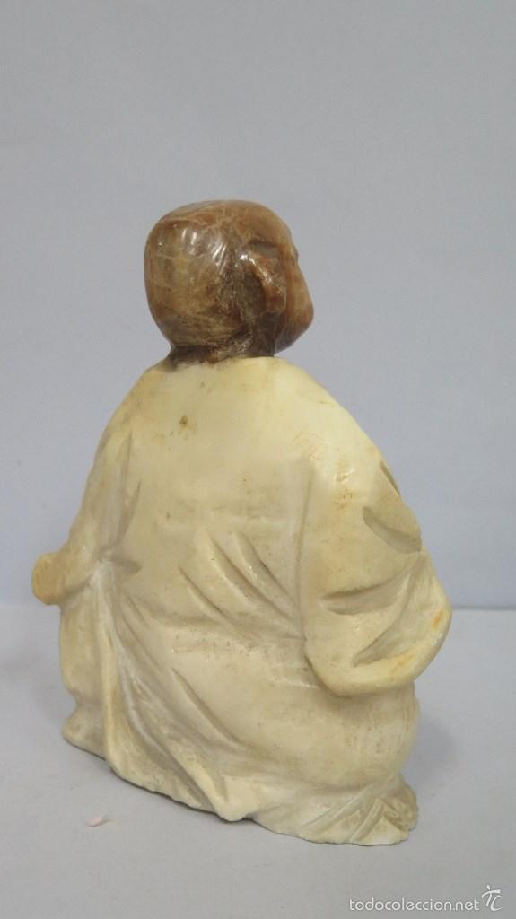 Antigüedades: BONITO BUDA DE ALABASTRO. SIGLO XX - Foto 3 - 60319763