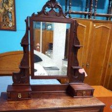 Antigüedades: TOCADOR DE CAOBA CON ESPEJO (OFERTA DEL DÍA). Lote 60355483