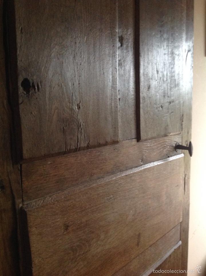Antigüedades: Puerta rústica de nogal - Foto 3 - 60366030
