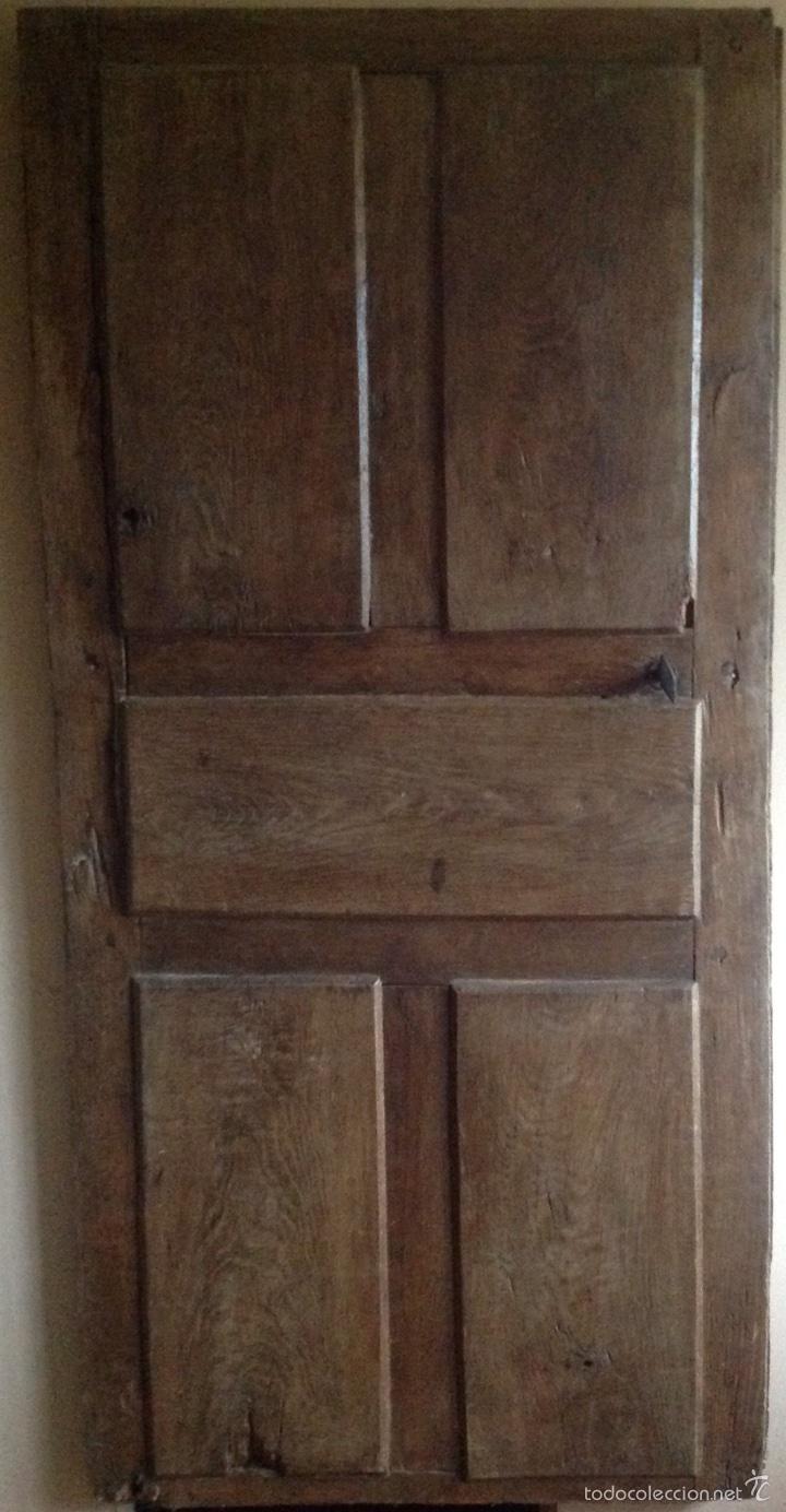 Antigüedades: Puerta rústica de nogal - Foto 4 - 60366030