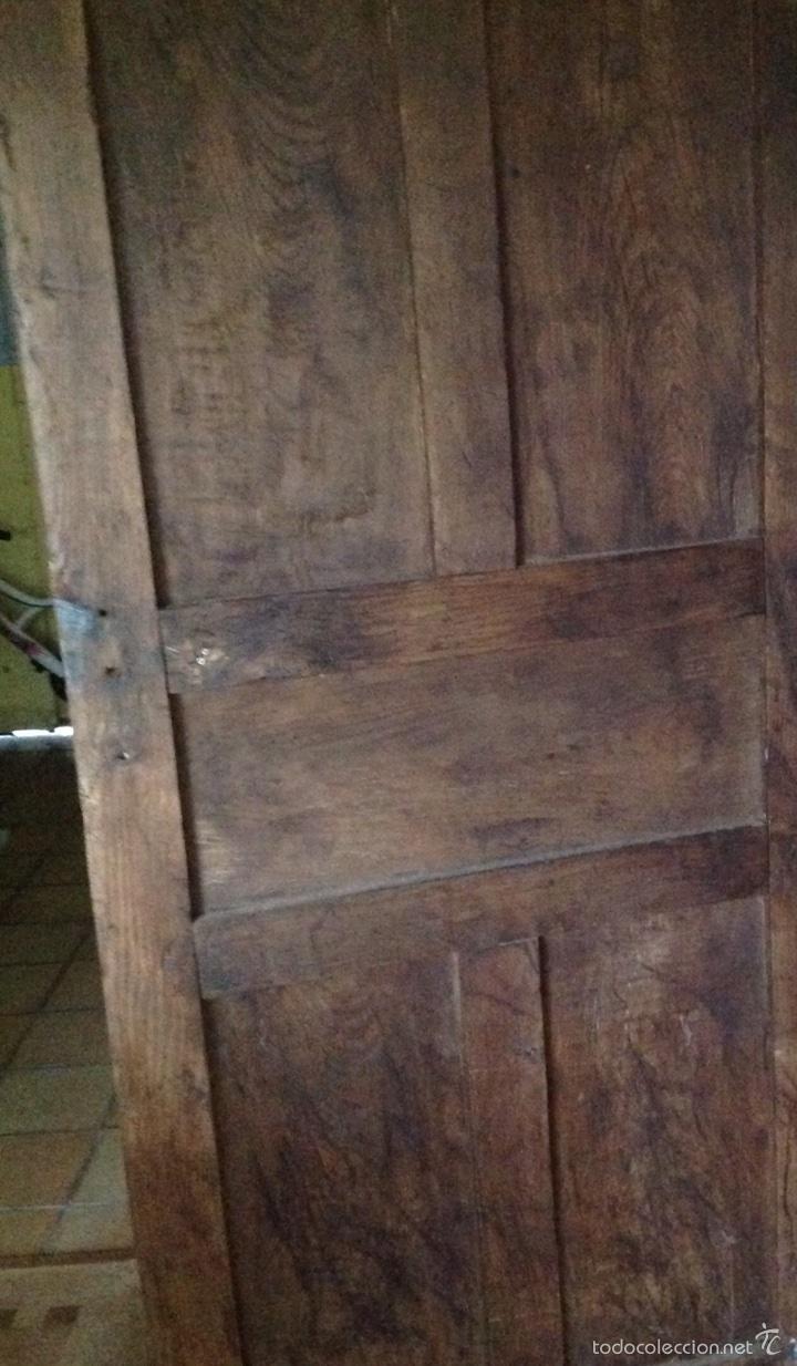 Antigüedades: Puerta rústica de nogal - Foto 5 - 60366030