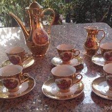 Antigüedades: ANTIGUO JUEGO DE CAFE CON ESCENAS GALANTES.. Lote 60384335