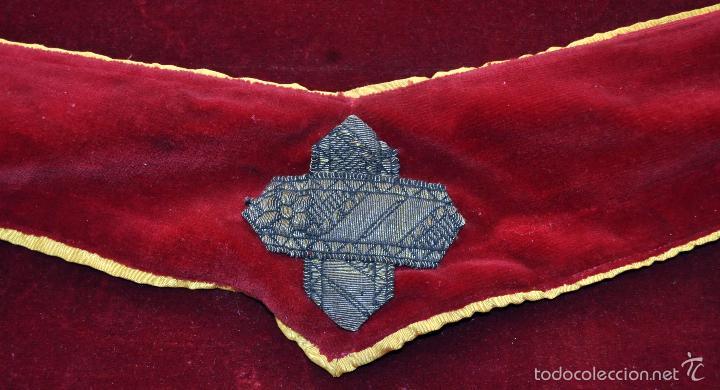Antigüedades: CONJUNTO DE ESTOLA Y CORPORAL EN ROPA TERCIOPELADA - Foto 6 - 60409539