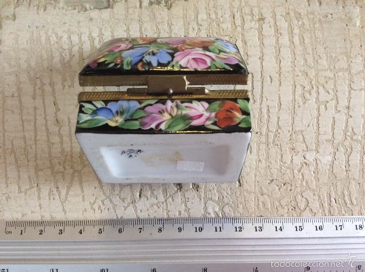Antigüedades: Caja joyero de porcelana - Foto 3 - 60420443