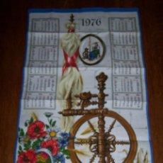 Antigüedades: PAÑO DE COCINA CALENDARIO 1976. NUEVO, SIN ESTRENAR. 70 X 39 CM.. Lote 60424507