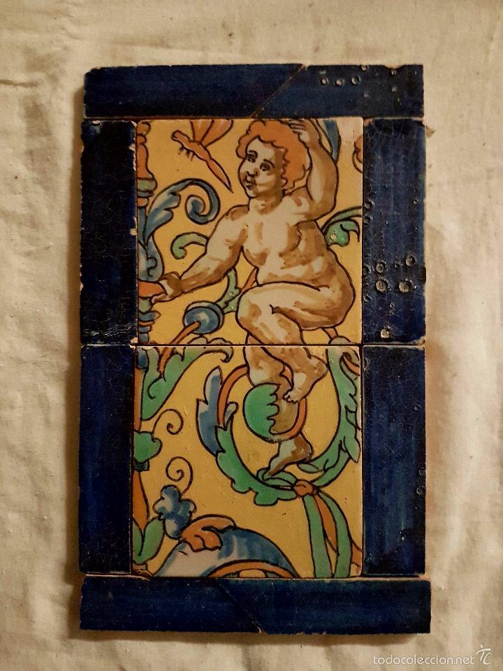 MAGNIFICO PLAFON DE AZULEJOS EN CERAMICA DE TRIANA,(SEVILLA),PRINCIPIOS DE S. XX (Antigüedades - Porcelanas y Cerámicas - Triana)