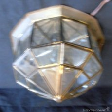 Antigüedades: LAMPARA DE TECHO, PLAFON ESTILO, GRANADINO, ARABE, DE HIERRO. Lote 194264703