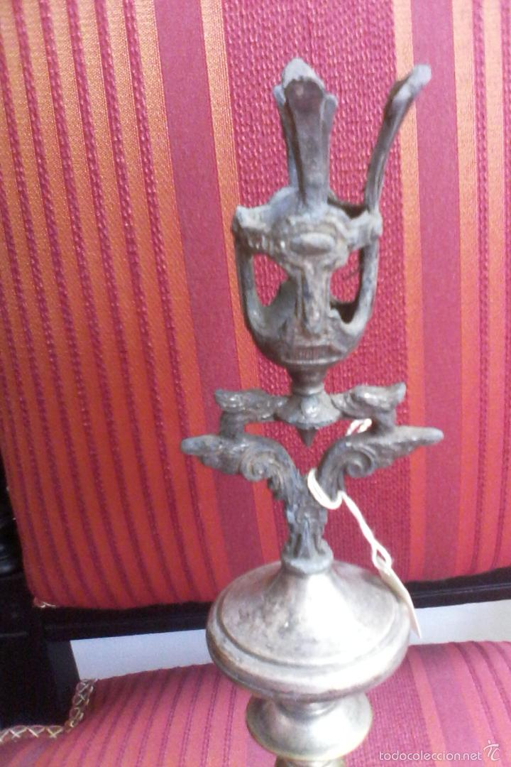 Antigüedades: soporte para velas (cirios, candelabros, báculo???) - Foto 3 - 60470823