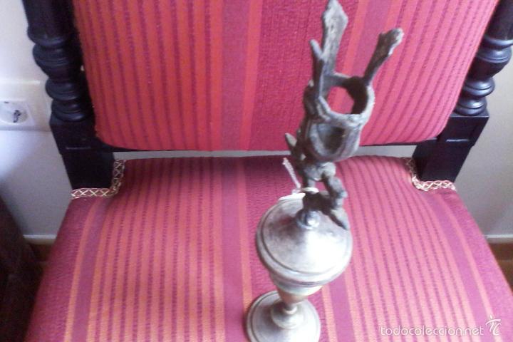 Antigüedades: soporte para velas (cirios, candelabros, báculo???) - Foto 4 - 60470823