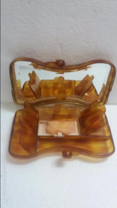 Antigüedades: Bonita polvera de carey o similar.Años 40 - Foto 2 - 60501635