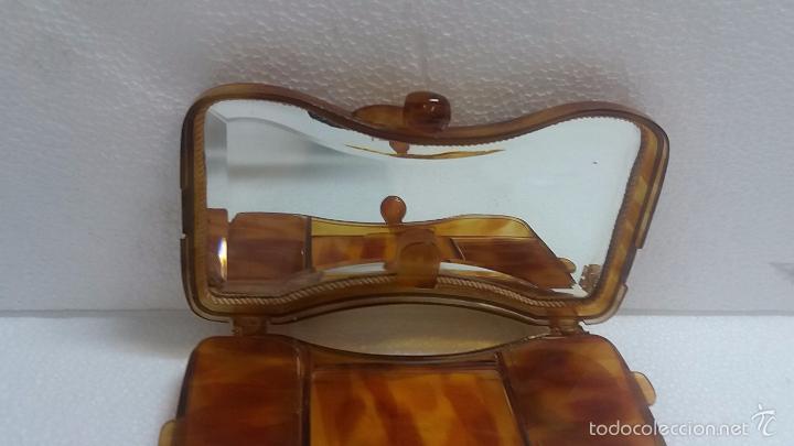 Antigüedades: Bonita polvera de carey o similar.Años 40 - Foto 3 - 60501635