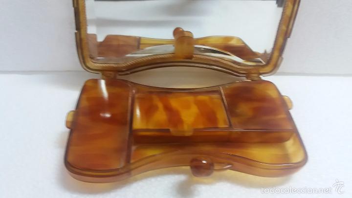 Antigüedades: Bonita polvera de carey o similar.Años 40 - Foto 4 - 60501635