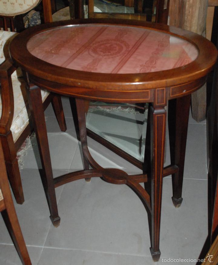PRECIOSA MESA VELADOR ESTILO MODERNISTA (Antigüedades - Muebles Antiguos - Veladores Antiguos)