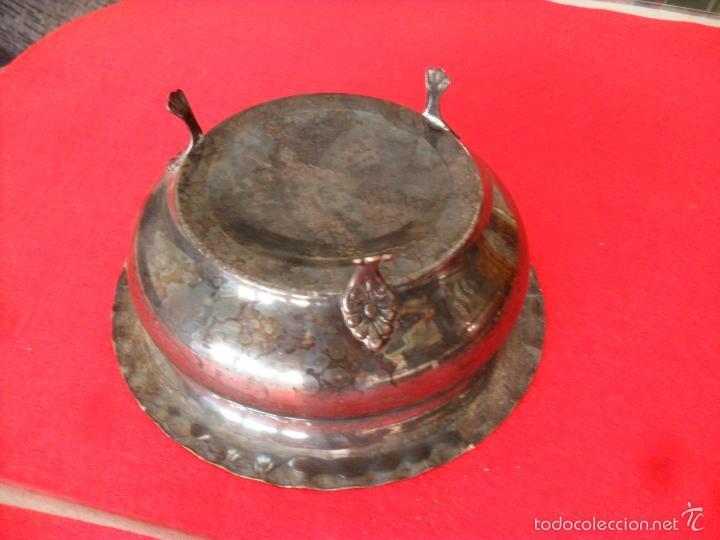 Antigüedades: bonito conjunto centro de mesa,faisanes,metal - Foto 8 - 60505911