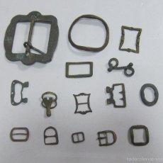 Antiquitäten - LOTE DE 15 HEBILLAS. COBRE / BRONCE. ENCONTRADA EN CAMPO Y PLAYA. VER FOTOS - 60506735