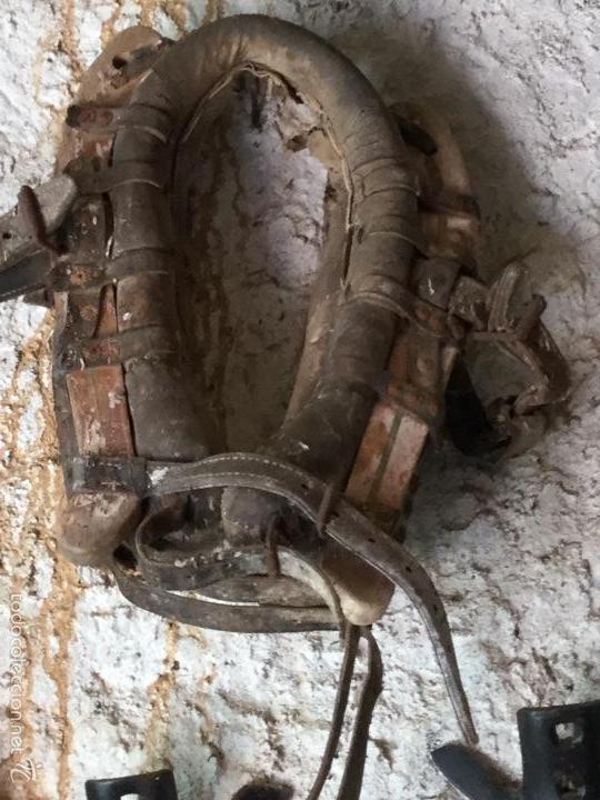 GRAN COLLERA ANTIGUA CABALLO O MULA (Antigüedades - Técnicas - Rústicas - Caballería Antigua)