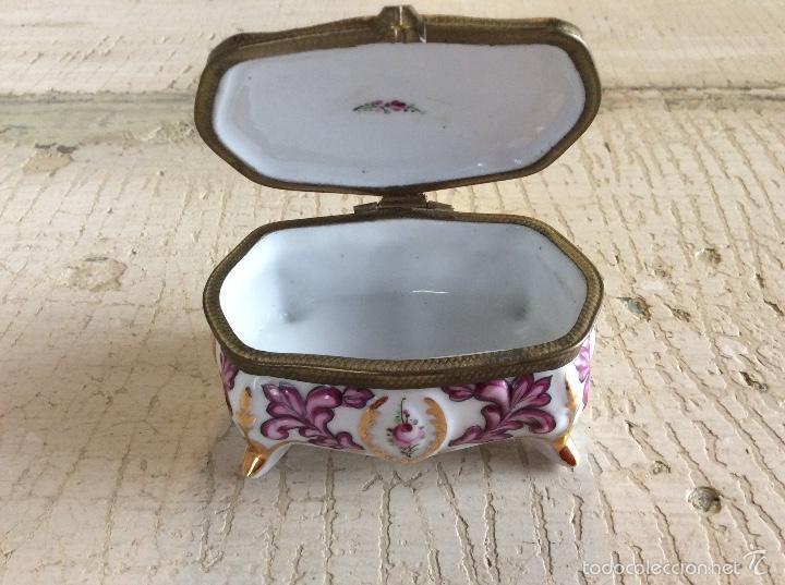 Antigüedades: Caja joyero de porcelana - Foto 2 - 60604795