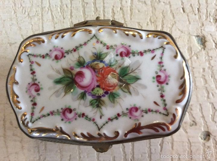 Antigüedades: Caja joyero de porcelana - Foto 3 - 60604795