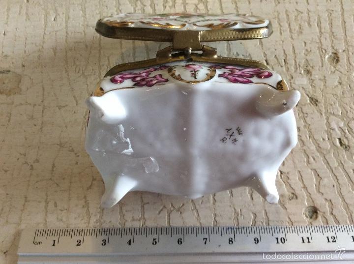 Antigüedades: Caja joyero de porcelana - Foto 4 - 60604795