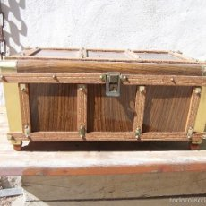 Antigüedades: COFRE MADERA HECHO A MANO. Lote 60606447
