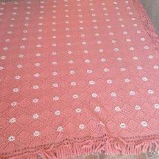 Antigüedades: PRECIOSA COLCHA DE LANA HECHA A GANCHILLO. PRECIOSA. Lote 60617427