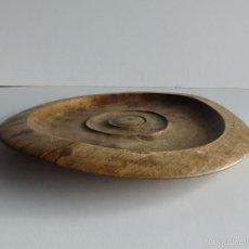 Antigüedades: PLATO RÚSTICO DE MADERA.. Lote 60621783