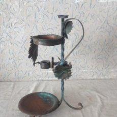 Antigüedades: MACETERO DECORACION EN HOJALATA. Lote 60673095