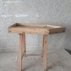 Antigüedades: QUESERA MADERA PARA EL CUAJO. MUY BUEN ESTADO. Lote 60673523