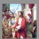Antigüedades: PRECIOSO CONJUNTO DE 15 AZULEJOS 20X20 DE LAS ESTACIONES DEL VIA CRUCIS.. Lote 74835742