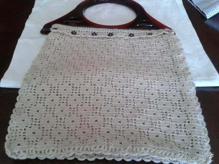 antigua y bonita bolsa de crochet hecha a mano. - Comprar Moda ...