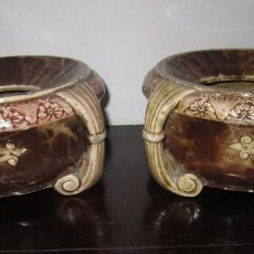 Antigüedades: PAREJA DE ESCUPIDERAS MODERNISTAS. Lote 60715367