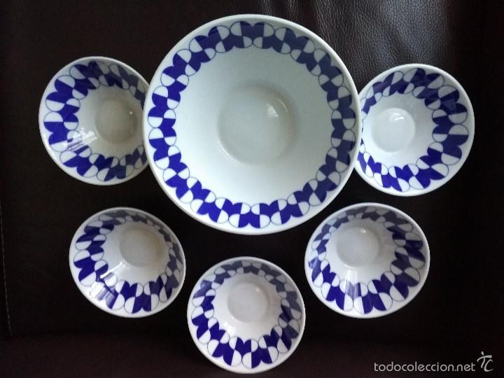 JUEGO DE FUENTE Y VOLS CASTRO SARGADELOS, SIN USAR (Antigüedades - Porcelanas y Cerámicas - Sargadelos)