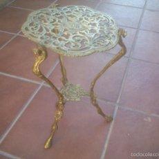 Antigüedades: MACETAS O MESA AUXILIAR EN BRONCE LABRADO Y MARCADA. Lote 60737903