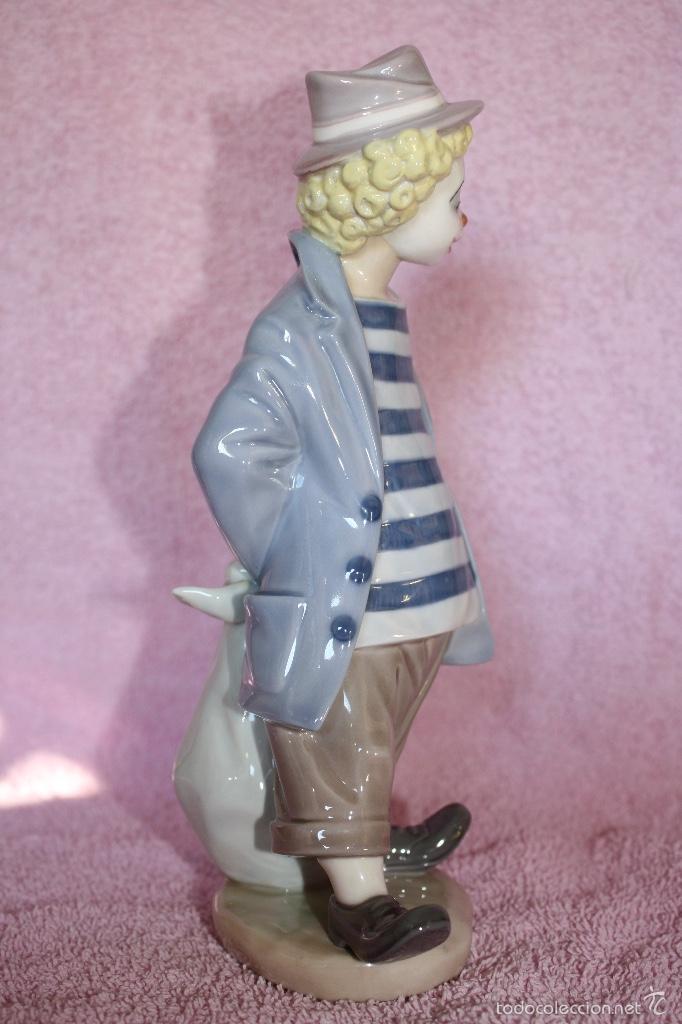 Antigüedades: Figura porcelana de sociedad de coleccionistas de Lladro ..PAYASITO CONTEMPLATIVO - Foto 2 - 60794415