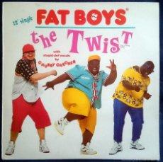 Discos de vinilo: FAT BOYS: THE TWIST, MAXISINGLE POLYDOR 887 638-1, SPAIN, 1988. VG+/VG+. Lote 60838547