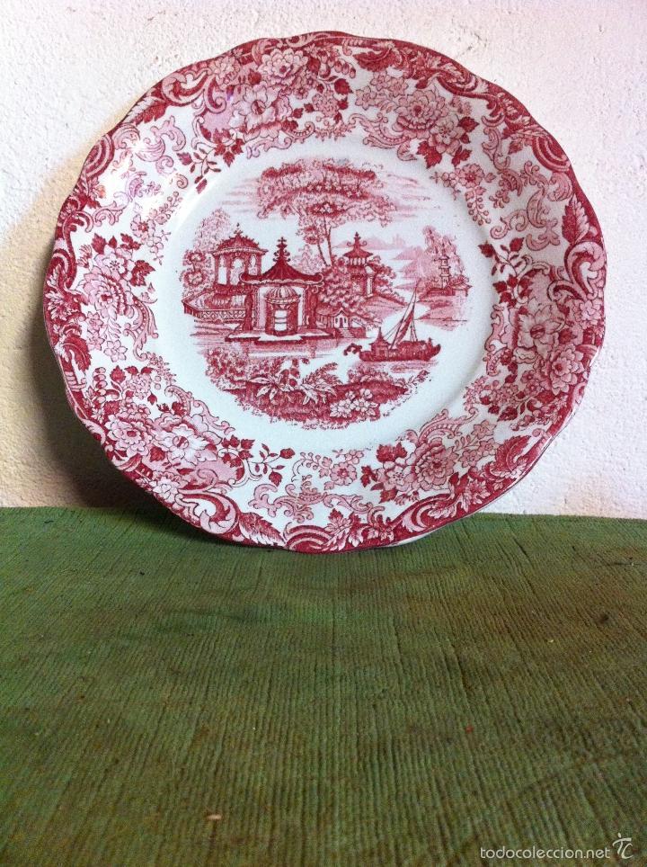 BONITO PLATO LLANO ANTIGUO DE PCIKMAN LA CARTUJA DE SEVILLA (Antigüedades - Porcelanas y Cerámicas - La Cartuja Pickman)